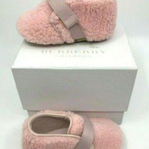 Buy Burberry NEW Baby Ice Pink Sherpa and Vintage Check Crib Booties  EU15 EU17
