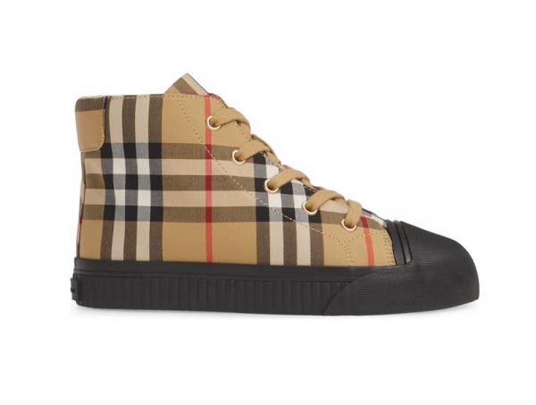 Buy Burberry Toddler Unisex Belford Check Print Sneaker Sz 32 EU / 13.5 US Black NIB