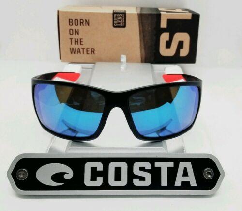 Buy COSTA DEL MAR race black-red/blue mirror REEFTON POLARIZED 580G sunglasses NEW!