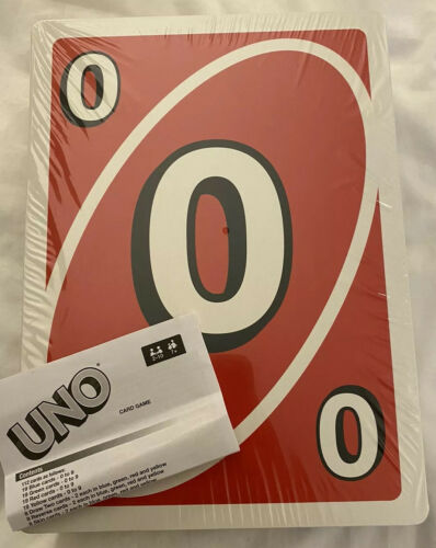 """Buy Cardinal Giant Uno Card Game New Sealed 7.4"""" X 10.1"""" Actual Size"""