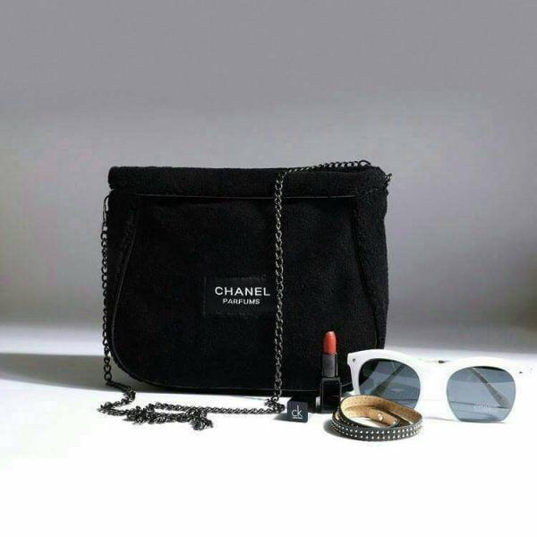 Buy Chanel CC Parfume Black Beaute Makeup VIP Gift bag Soft Shoulder Cross Bag New