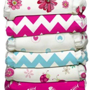 Buy Charlie Banana Hybrid AIO Reusable One Size Baby Cloth Diaper 6 PK Power Girl