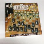 Buy Cheers Chess & Checker Set Glass Board 32 Shot Glasses Drink Game Rare