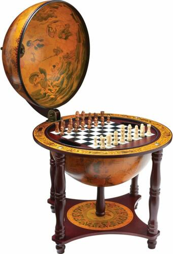 """Buy Chess And Checkers Set 13"""" Globe 57 Pieces Classic Game Room Table Wood Stand US"""