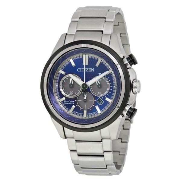 Buy Citizen Eco-Drive Men's Brycen Chronograph Titanium 46mm Watch CA4240-82L