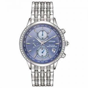 Buy Citizen Eco-Drive Women's Atomic Chronograph World Time 38mm Watch FC5000-51L