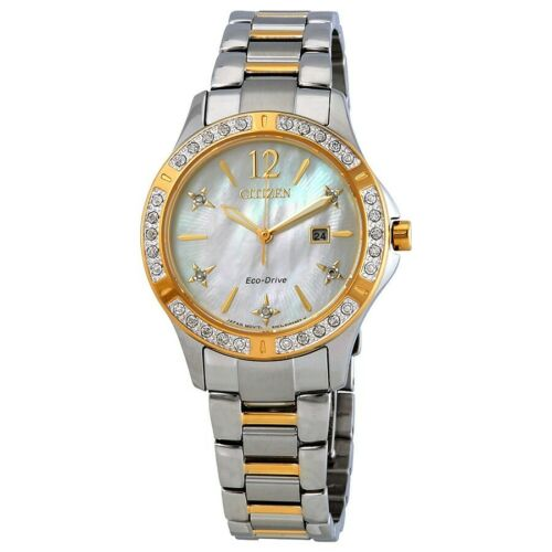 Buy Citizen Eco-Drive Women's Elektra Diamond Accent MOP Dial 32mm Watch EW2514-59D