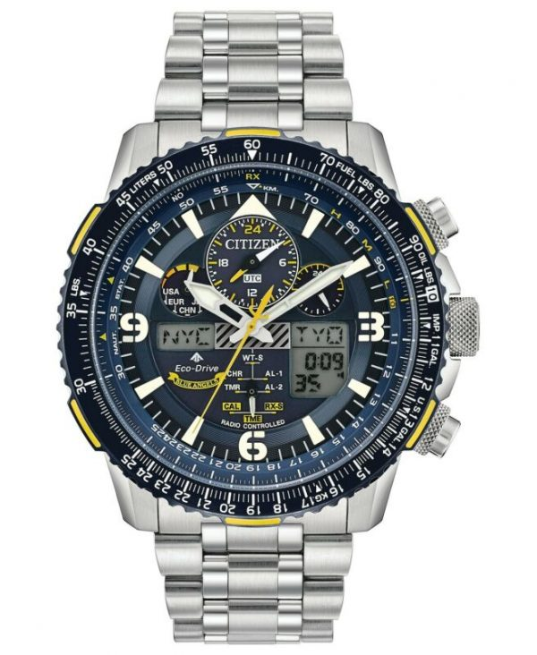 Buy Citizen Men's Blue Angels Skyhawk Eco-Drive Atomic Time Keeping Watch JY8078-52L