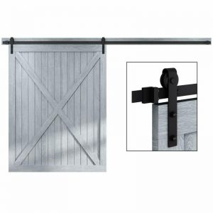 "Buy Classic Rustic Sliding Barn Door Hardware Fit One Door Panel Width Upto 60"" 10ft"
