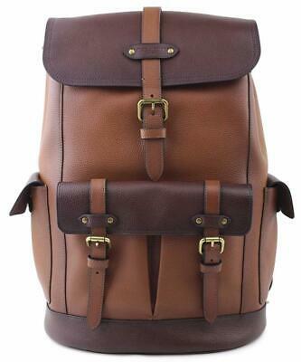 Buy Coach Men's 49543 Dark Brown Leather Hudson Backpack in Color-block