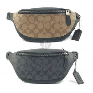 Buy Coach Mens Warren Mini Belt Leather Half Moon Crescent Fanny Waist Bag