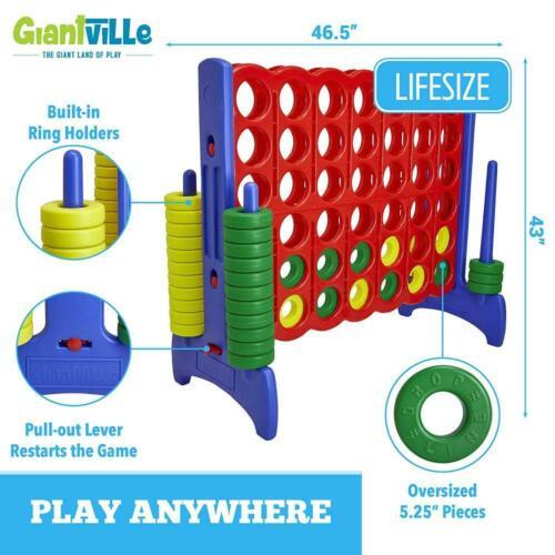 Buy Connect 4 Game GIANT BIG Jumbo Kids Adult Indoor Outdoor Yard Fun BBQ Gift New
