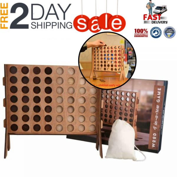 Buy Connect 4 Outdoor Indoor Game Fun Wooden Family Friends Tabletop Party Activity