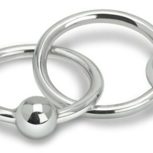 Buy Cunill 'Double Ring Bead' Teething Rattle Sterling Silver