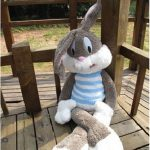 Buy Cute Large Plush Rabbit Stuffed Cartoon Bugs Bunny Pilllow Toy Children's Gifts