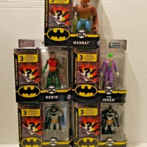 Buy DC Spin Master~BATMAN~ THE CAPED CRUSADER~5 FIGURINE COLLECTION. FREE SHIPPING.
