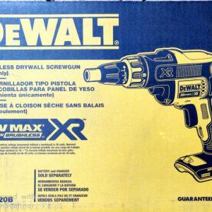 Buy DEWALT DCF620B 20V MAX XR Li-Ion Cordless Brushless Drywall Screwgun (Tool Only)