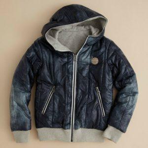 Buy Diesel Jachio Boy's Blue 4 Years Reversible Zip Hoodie Jacket Sold Out