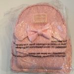 Buy Disney Minnie Mouse Sequin Mini Backpack Pink by Loungefly NEW NWT