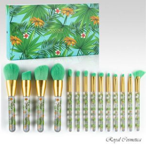 Buy Docolor Tropical Makeup Brushes 14pc Set High Quality Synthetic Fibers
