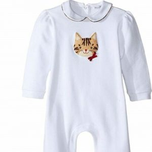 Buy Dolce & Gabbana 166696 Baby Set One-Piece White Leopard Print Size 6-9 Month