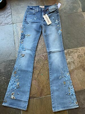 Buy Driftwood Isabel Flared Embroidered Jeans