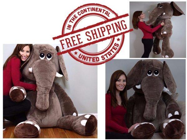 Buy Elephant Giant Large Big Jumbo Size Stuffed Animals Plush Soft Squishy Huggable