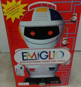 """Buy Emiglio Remote Controlled 24"""" RC Robot Vintage 1980s New In Box NIB Never Opened"""