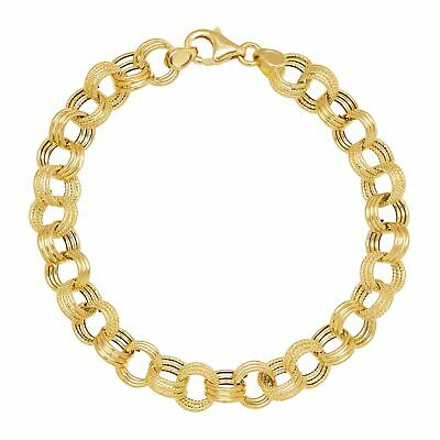 Buy Eternity Gold Triple Rolo Link Chain Bracelet in 14K Gold