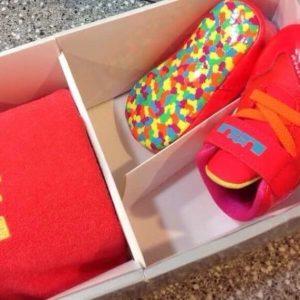 Buy FRUITY PEBBLES NIKE Lebron XI GIFT PK Crib shoe 1C Crimson Orange PINK FREE SHIP