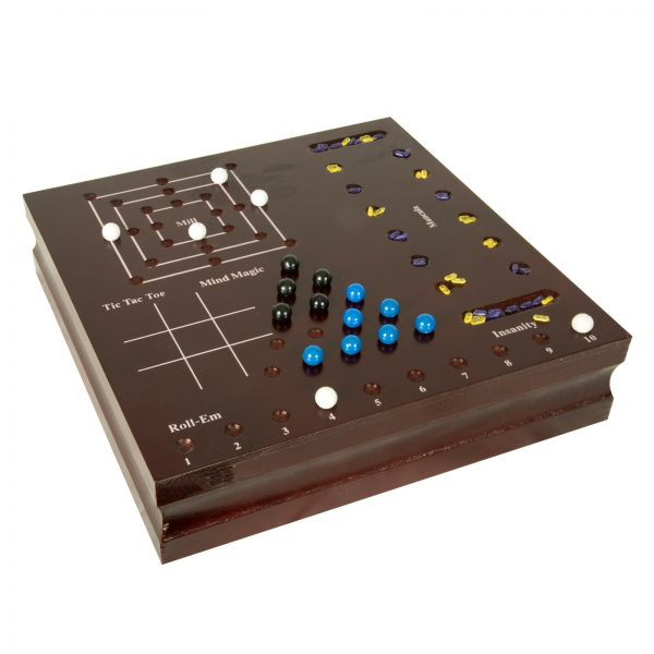 Buy Family Game Set 10 in 1 Wood Chess Chinese Checkers Backgammon Dice Mancala Mill