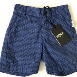 Buy Fendi baby FF logo boys shorts