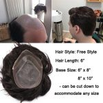 Buy Fine Mono Durable Toupee Men Human Hair Hairpiece Replacement System Hand Tied
