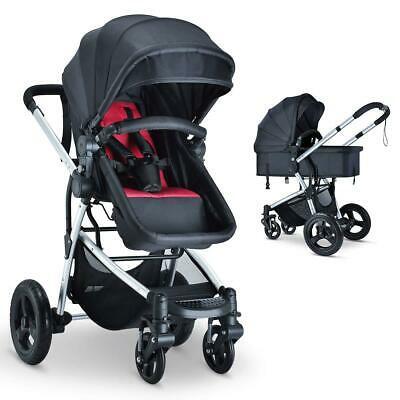 Buy Foldable Baby Stroller Kids Travel Newborn Infant Buggy Pushchair Bassinet