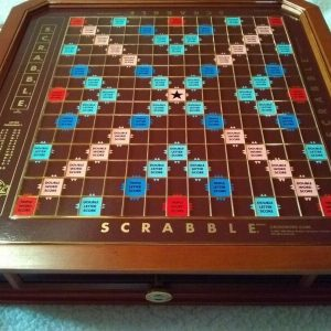 Buy Franklin Mint Scrabble Collector's Edition Game Board With COA Gold Plated Tiles