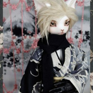 Buy Free shipping 1/4 bjd doll male cat Oskar free eyes and faceup action figures