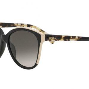 Buy Furla Women's SFU136 SFU/136 700Y Black Fashion Butterfly Sunglasses 56mm