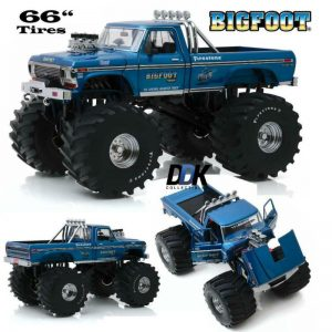 "Buy GREENLIGHT 13541 1974 FORD F250 BIGFOOT #1 DIECAST MONSTER TRUCK 1:18 66"" TIRES"