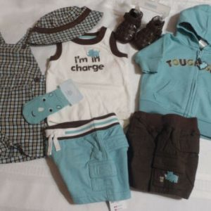 Buy GYMBOREE Baby Boys 0-3 Month Rhino Cutie Hoodie Shorts Bodysuit Hat Outfit NWT