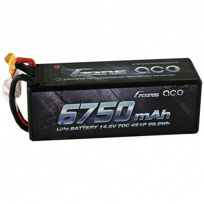 Buy Gens ACE 14.8V 6750mAh 70C 4S1P XT90 Plug Lipo Battery for 1/8 RC Vehicles Model