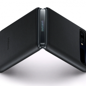 Buy Genuine Samsung Galaxy Z Flip Black Leather Case Cover Premium Quality EF-VF700