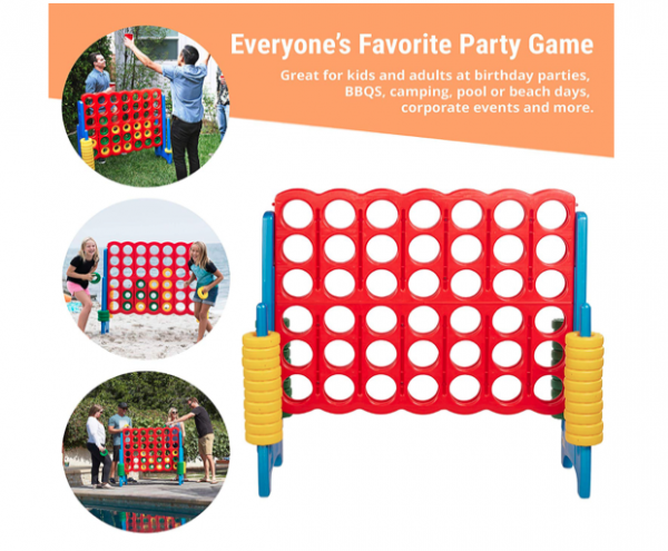 Buy Giant Easy to Transport Jumbo Connect 4-to-Score Game Indoor or Outdoor game Set