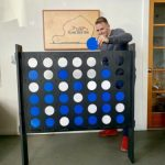 Buy Giant Jumbo Wood Connect 4 Four In A Row. Pick Custom Colors Game Yard Outdoor
