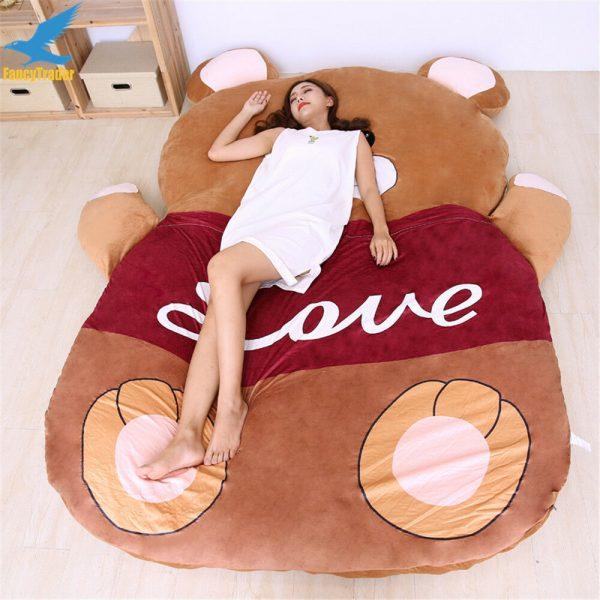 Buy 2019 Giant Plush Stuffed Cartoon Love Bear Sofa Sleeping Bed Sleeping Carpet