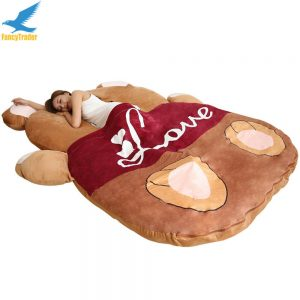 Buy 2019 Giant Plush Stuffed Cartoon Love Bear Sofa Sleeping Bed Sleeping Carpet