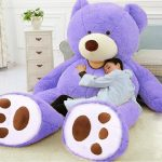 """Buy Giant Purple Teddy Bear Plush Toys Jumbo 93"""" Bed Pillow Filled Animal Doll Gifts"""