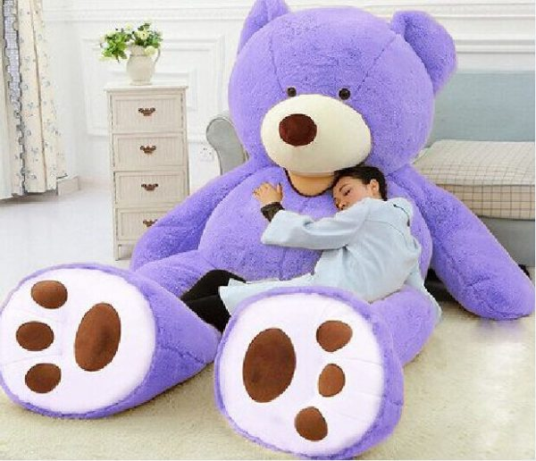 "Buy 93"" Giant Purple Teddy Bear Plush Toys Jumbo Bed Pillow Filled Animal Doll Gifts"