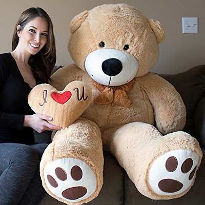 Buy Giant Teddy Bear Fluffy Stuffed Plush Toys Pillow Included Valentines Gift 5 Ft