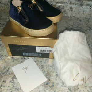 Buy Giuseppe Zanotti Junior Logo Veronica Navy Slip On Sneakers Size 20 New In Box