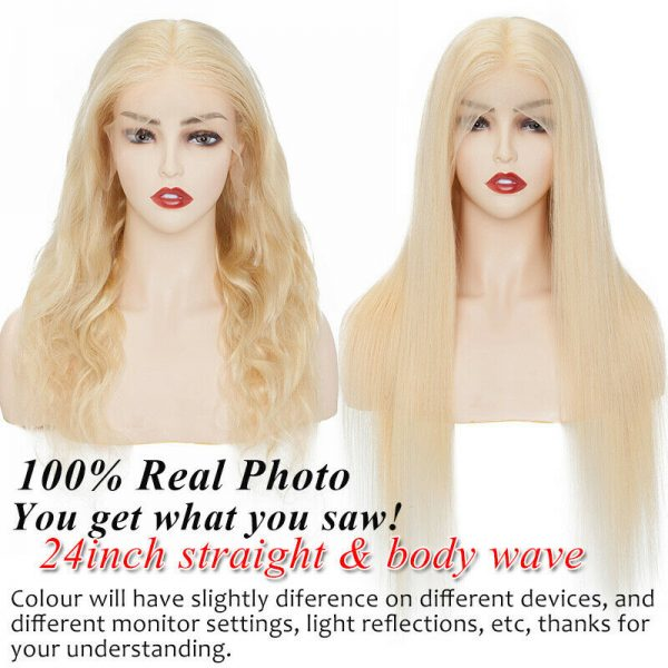 Buy Glueless Blonde Full Front 360 Lace Wigs Peruvian Remy Human Hair Wigs Baby Hair